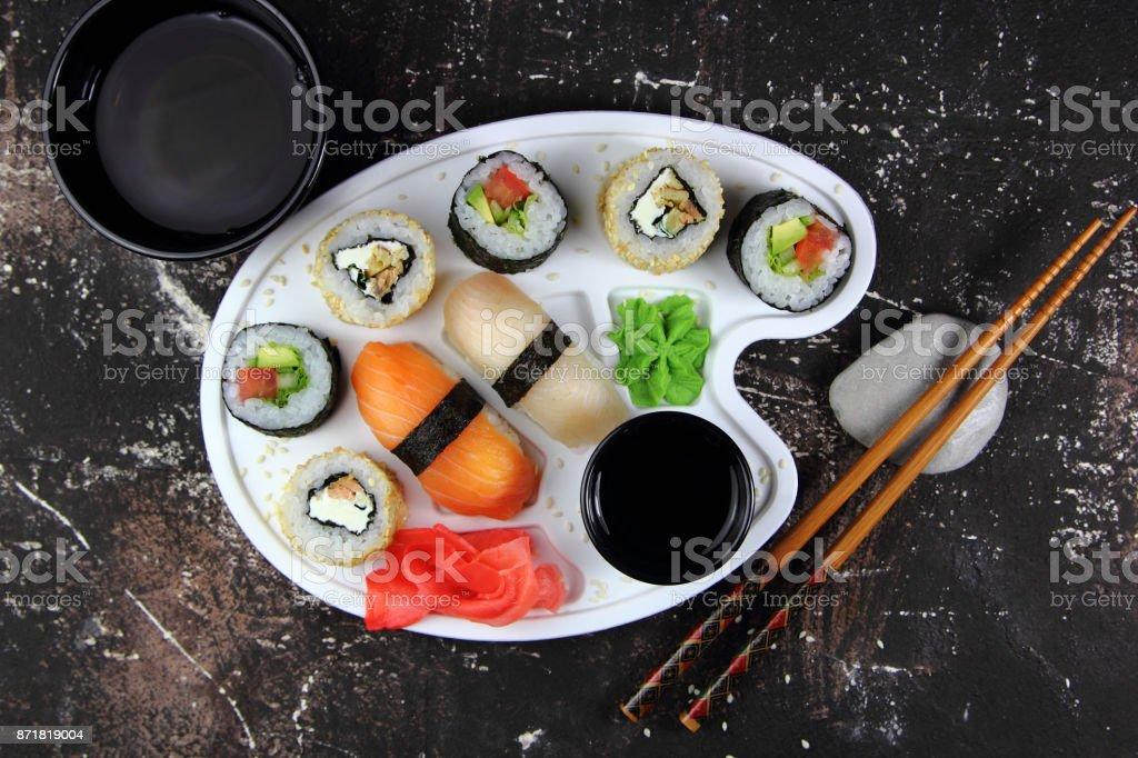 суши и роллы stock photo