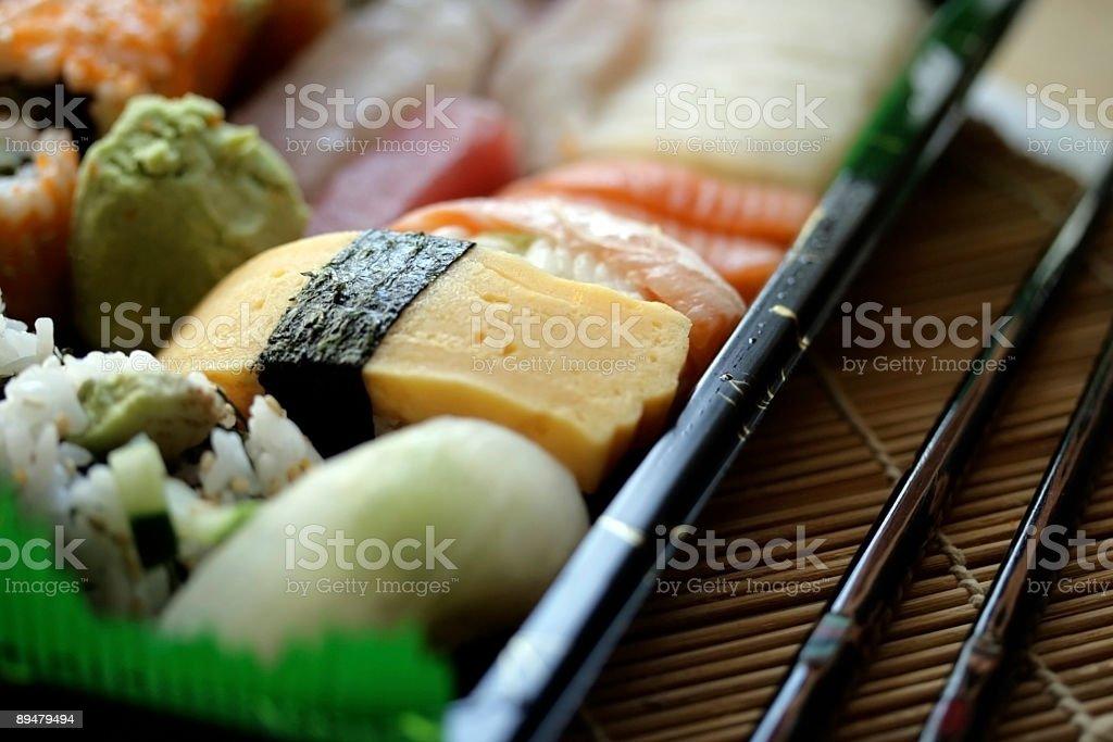 Sushi and Sashimi royalty-free stock photo