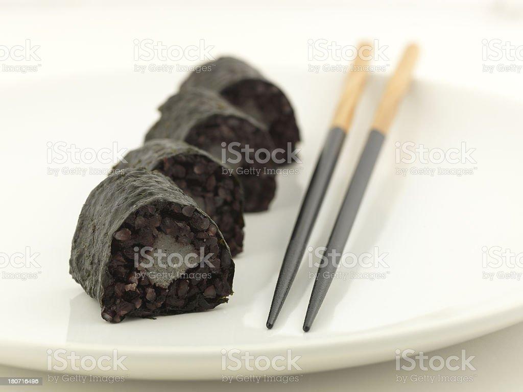 sushi black royalty-free stock photo