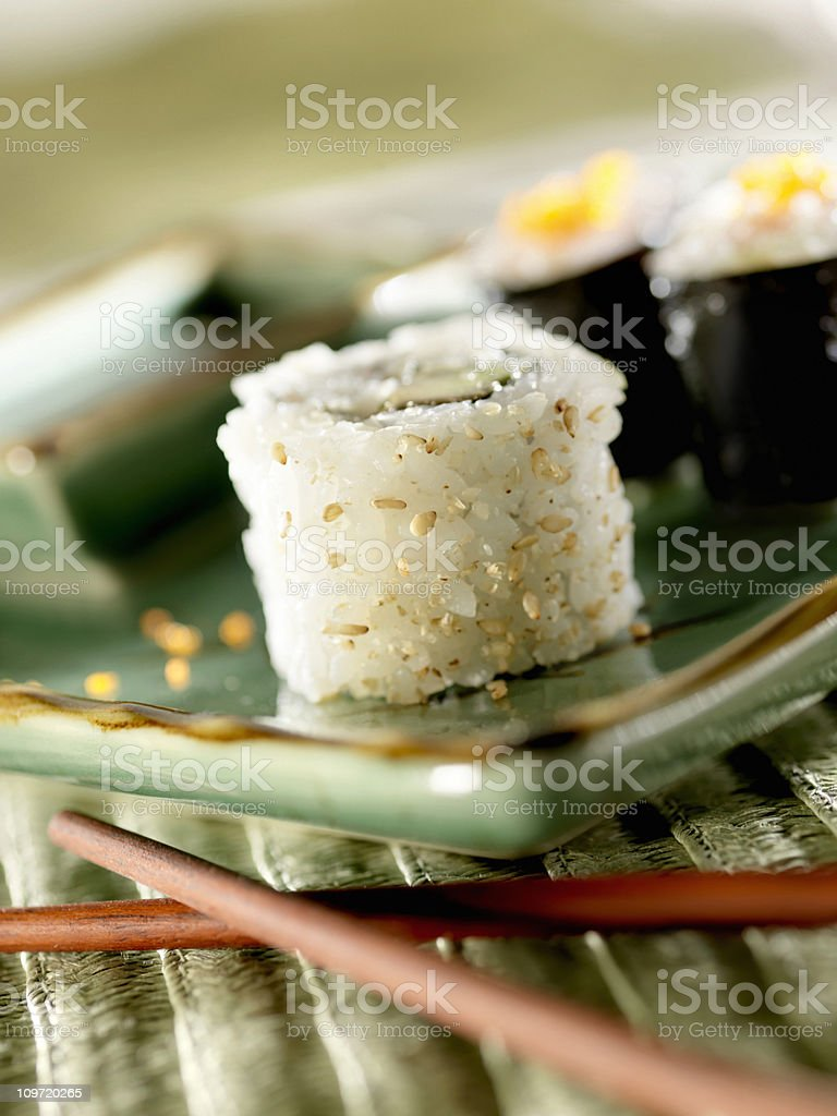 Sushi, California Roll royalty-free stock photo