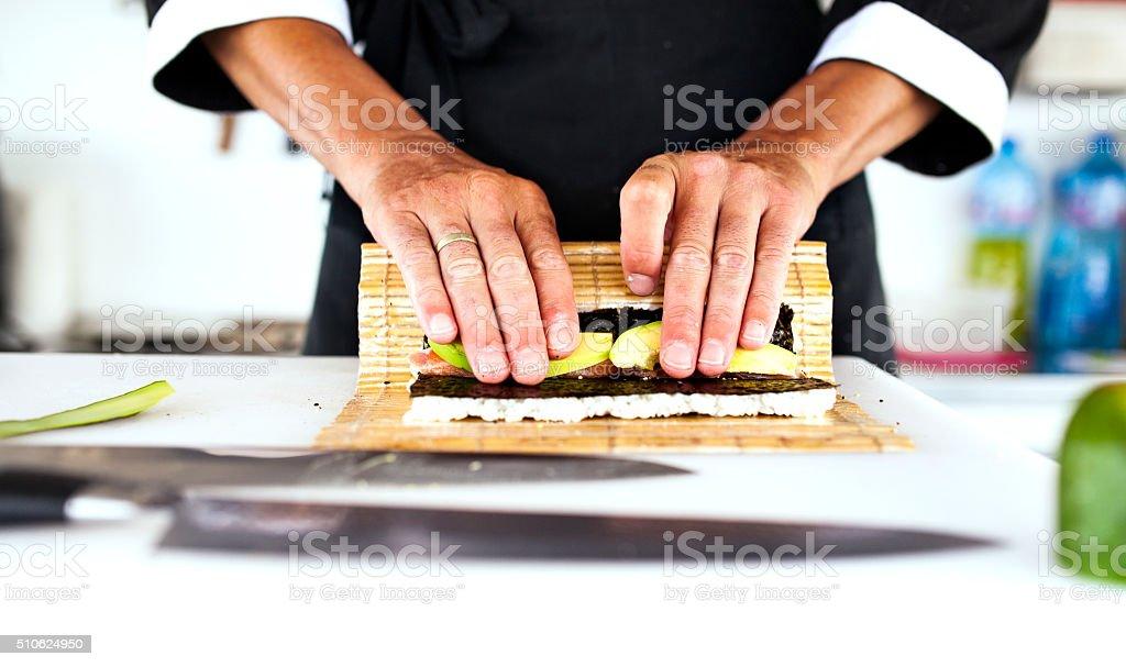 sushi Chef stock photo
