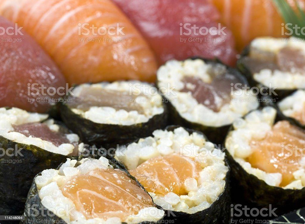 Sushi Combination close up royalty-free stock photo