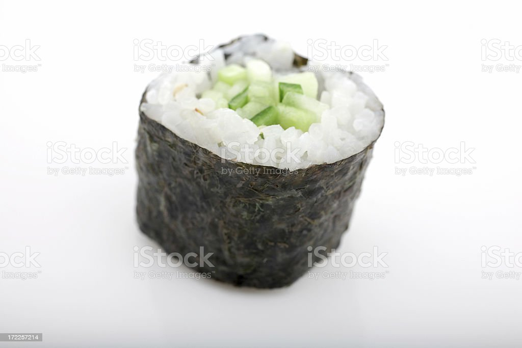 Sushi - Cucumber Roll royalty-free stock photo