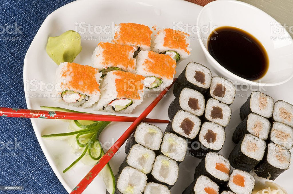 sushi food royalty-free stock photo