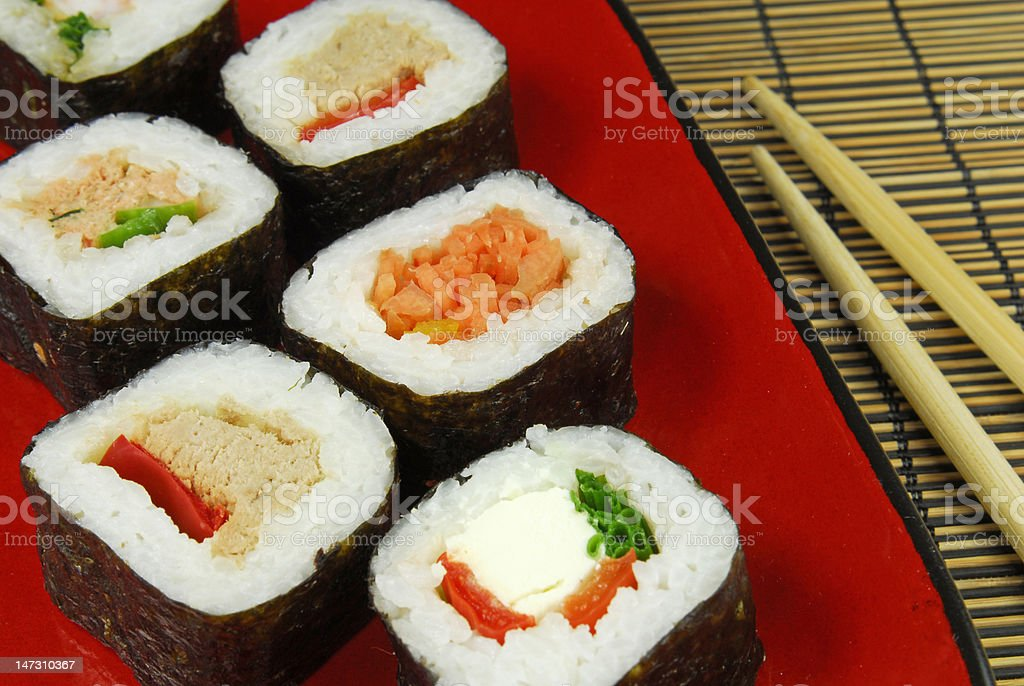 sushi futomaki royalty-free stock photo