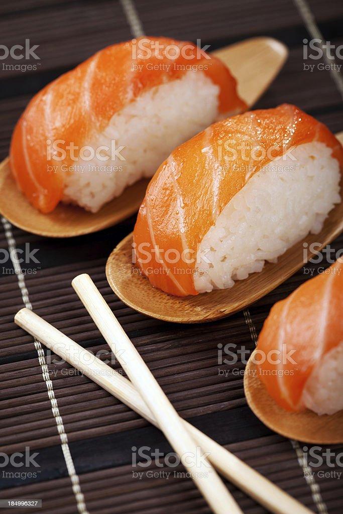 Sushi fuyu royalty-free stock photo