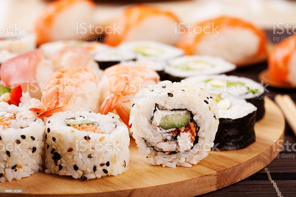 Sushi fuyu stock photo