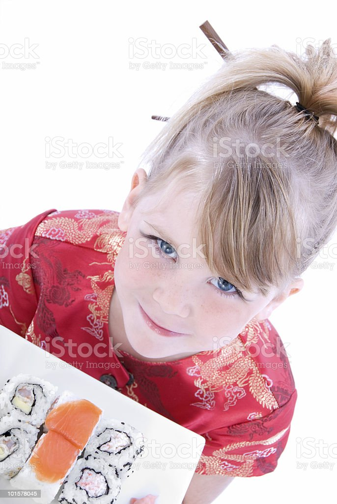 Sushi Girl Series royalty-free stock photo