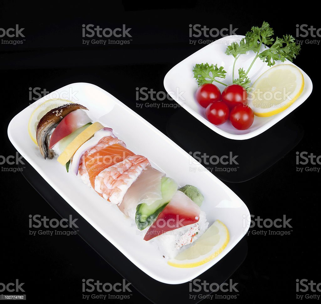sushi in plate royalty-free stock photo
