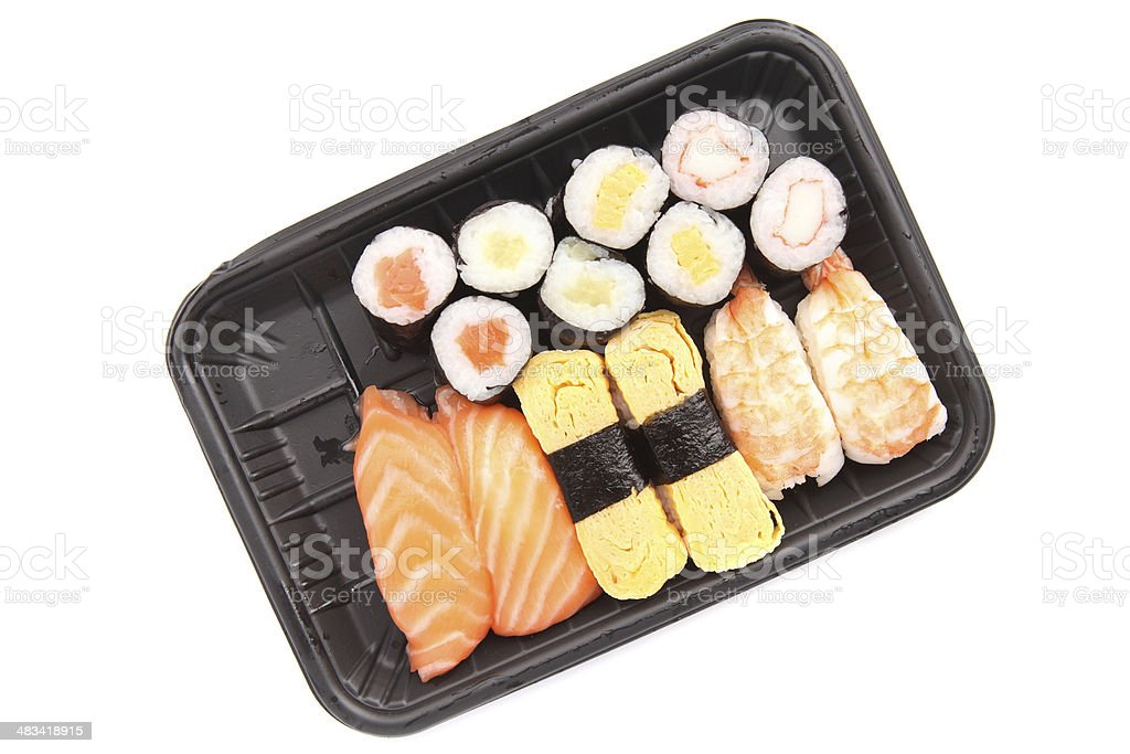sushi in white background stock photo