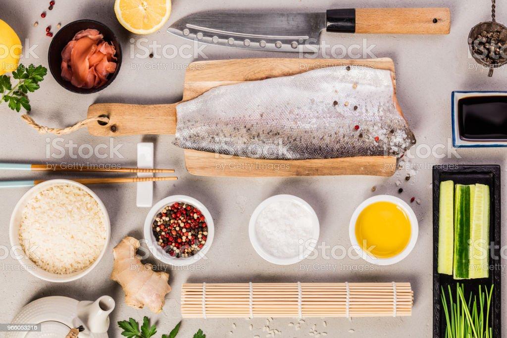 sushi ingredients - Royalty-free Asia Stock Photo
