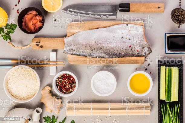 Sushi Ingredienser-foton och fler bilder på Asien