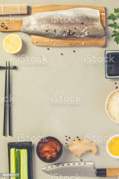Sushi Ingrediënten Stockfoto en meer beelden van Avocado