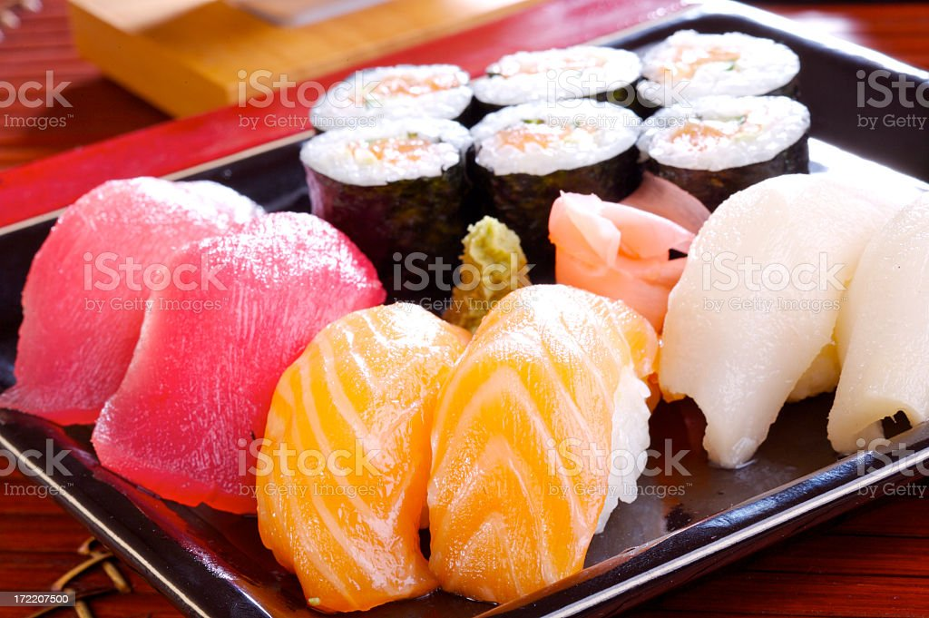 Sushi is great for people that love raw fish royalty-free stock photo