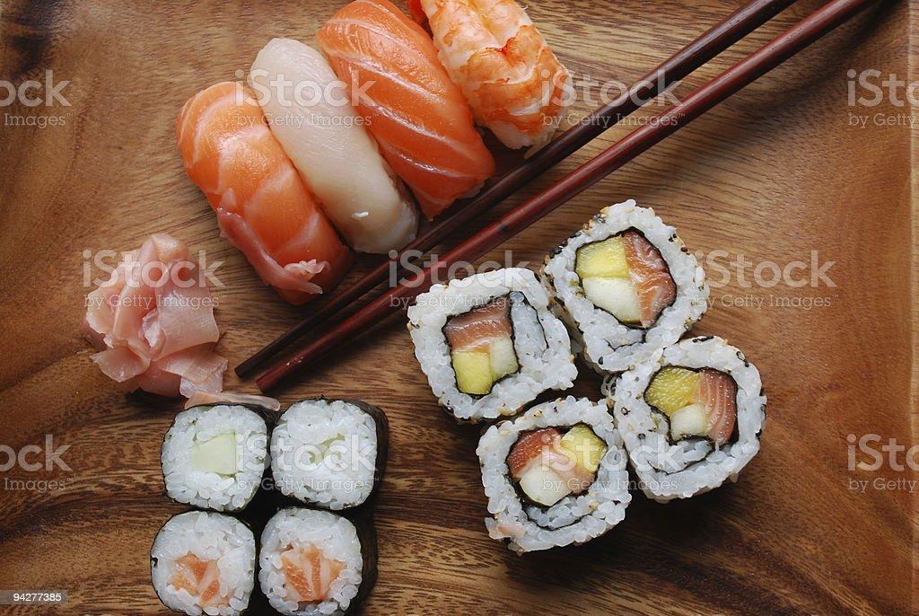 Sushi - Japonese Food royalty-free stock photo