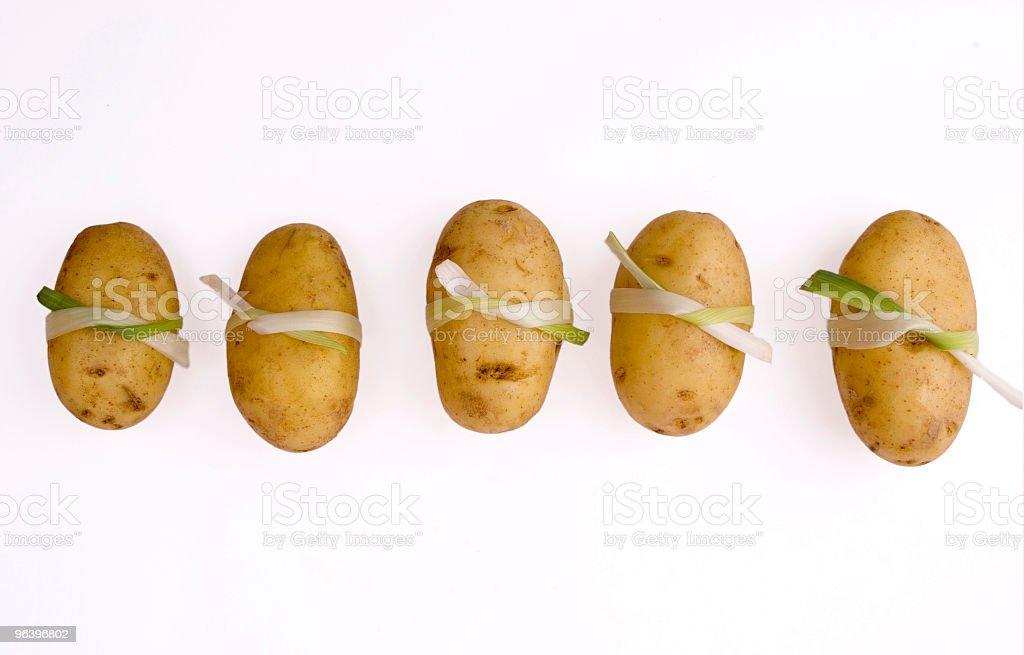 Sushi like potatoes in line - Royalty-free Buddhism Stock Photo