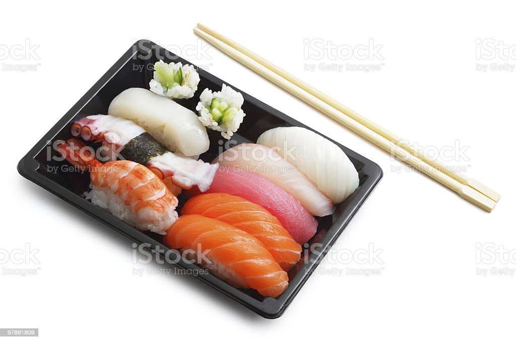 Sushi lunch box royalty-free stock photo
