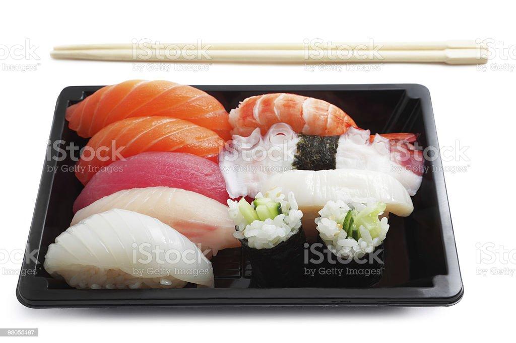 Sushi lunch box royalty-free stock photo