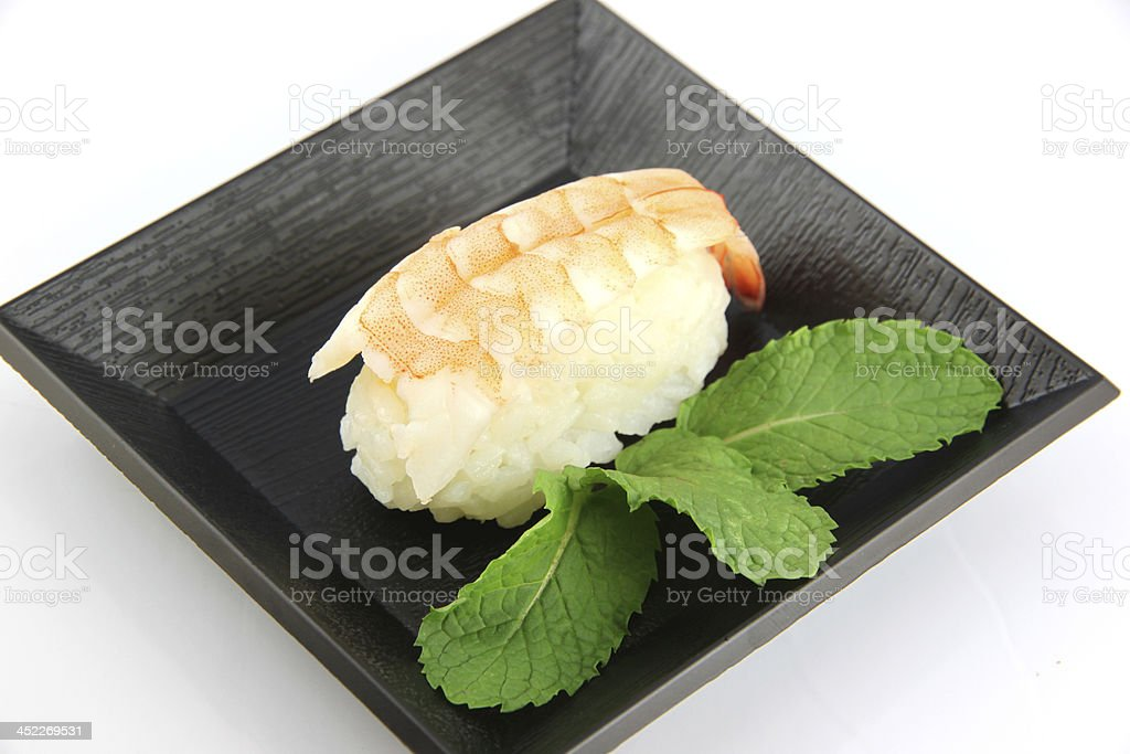 Sushi made from Shrimp meat. royalty-free stock photo