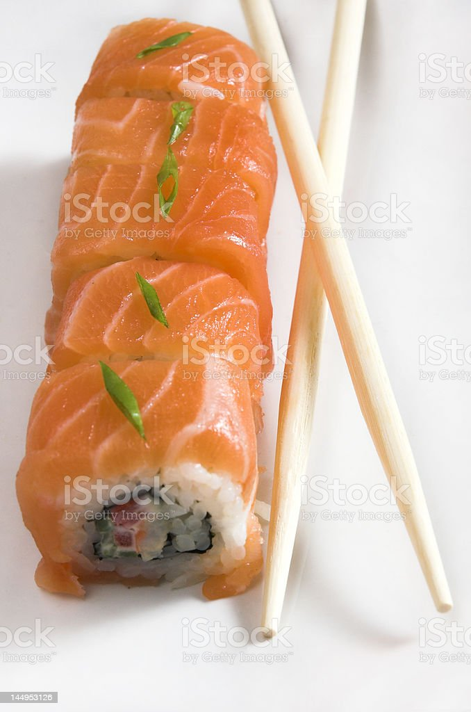 sushi meal from a fish royalty-free stock photo