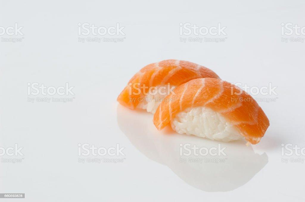 sushi on white background royalty-free stock photo