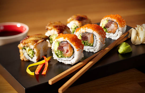 sushi - japanese food stock photos and pictures