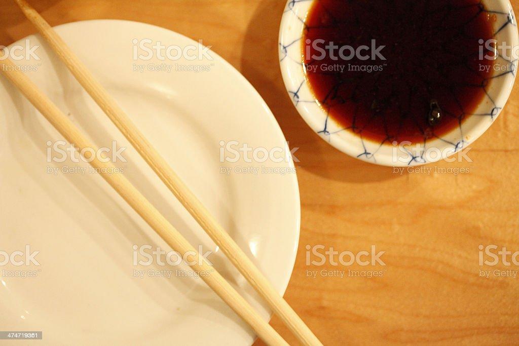 Sushi Place Setting royalty-free stock photo