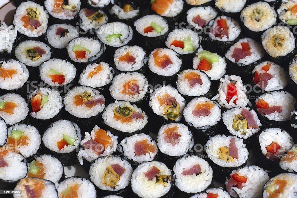 sushi plate royalty-free stock photo