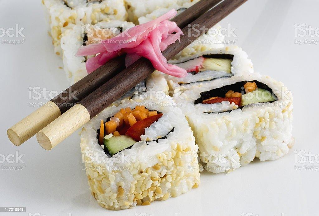 Sushi platter royalty-free stock photo