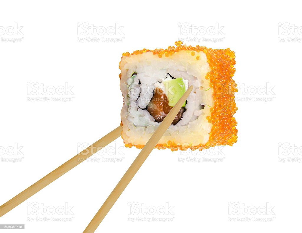 Sushi roll isolated royalty-free stock photo