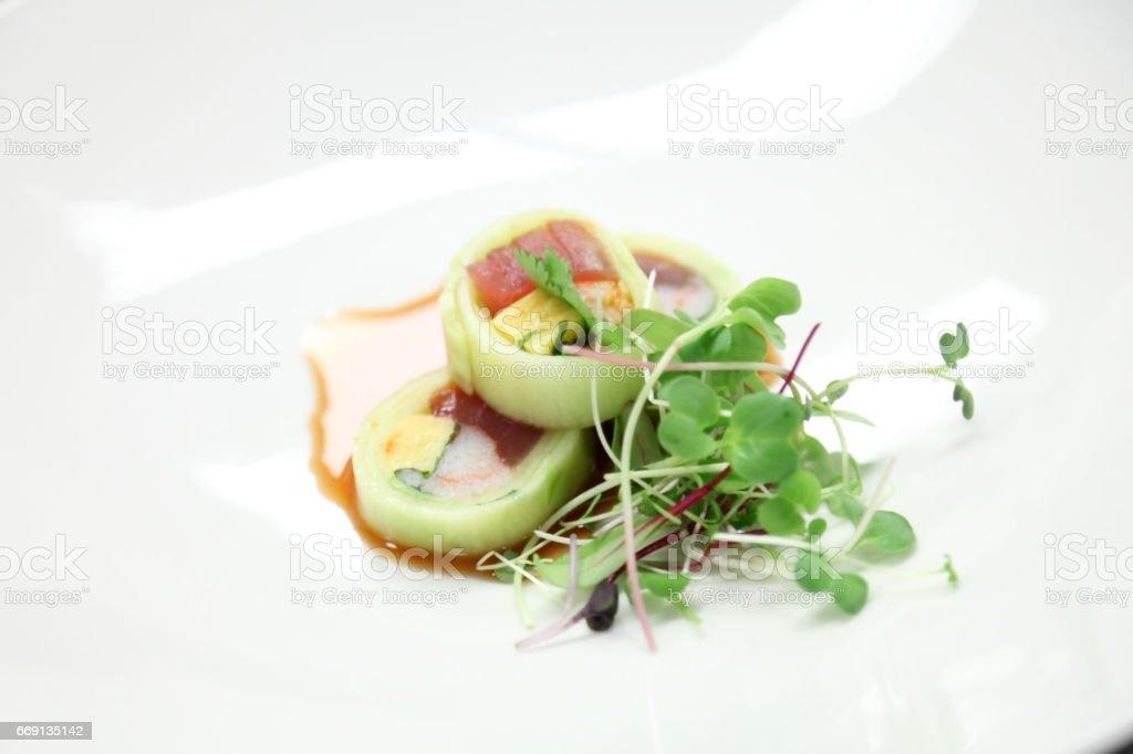 Sushi roll. stock photo