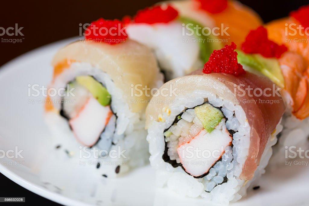 Ensemble de cuisine japonaise, sushis photo libre de droits