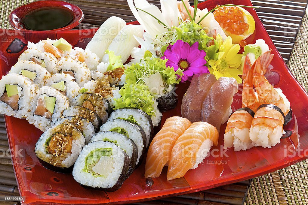 Sushi Set  royalty-free stock photo
