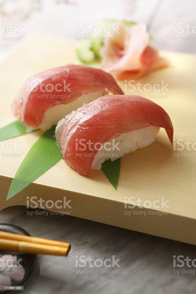 Sushi Stills: Nigiri with Tuna royalty-free stock photo