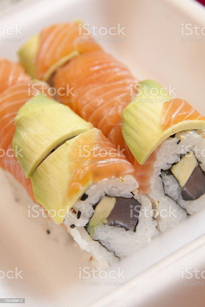 Sushi take-away royalty-free stock photo