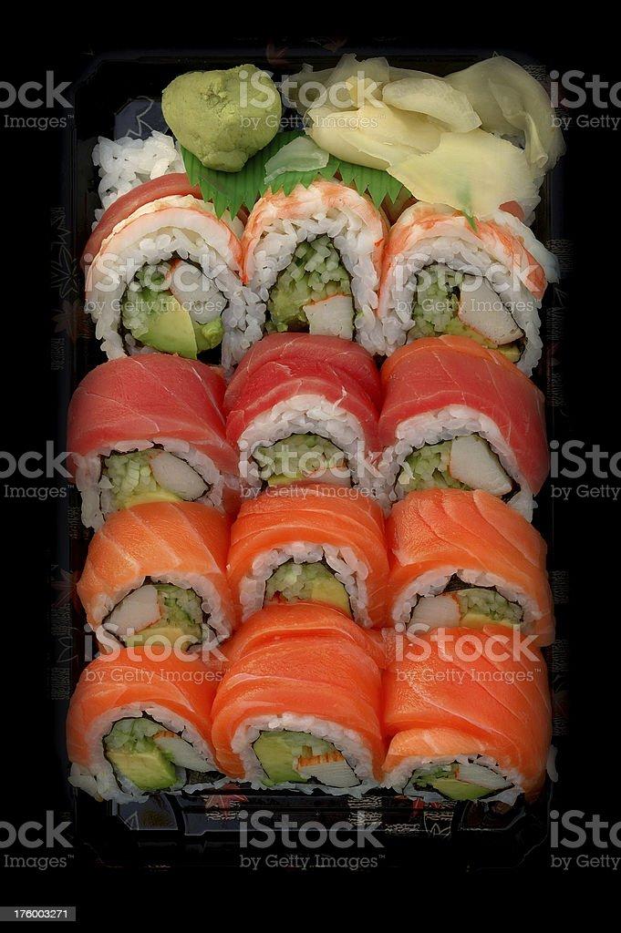 sushi to go royalty-free stock photo