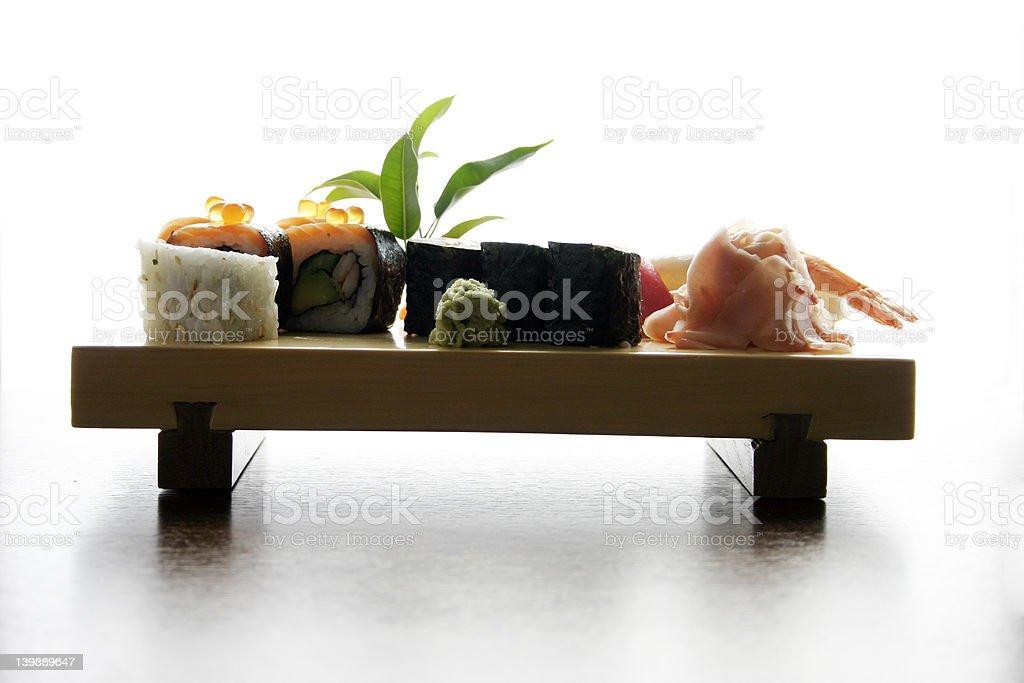 Sushi traditional Japanese food royalty-free stock photo