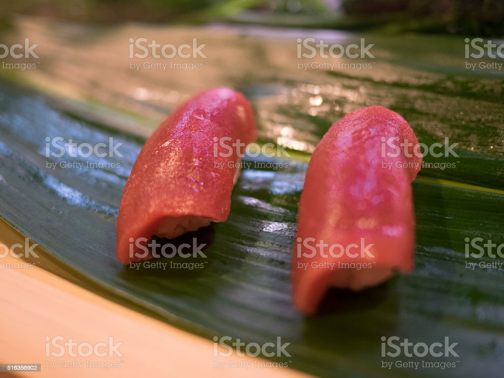 sushi - tuna stock photo