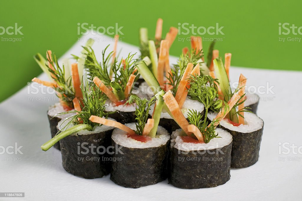 sushi vegetarian royalty-free stock photo