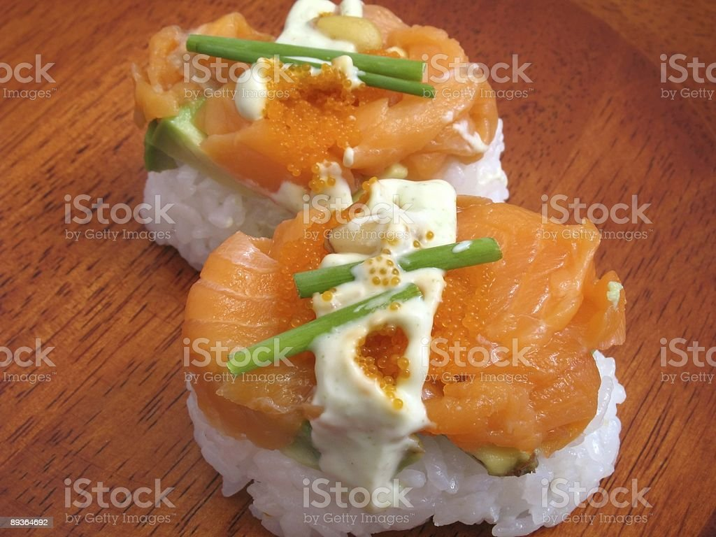 Sushi Volcano royalty-free stock photo