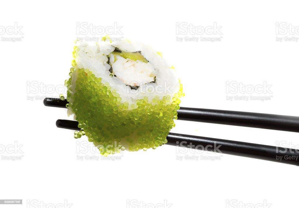 Sushi con palillos chinos foto de stock libre de derechos
