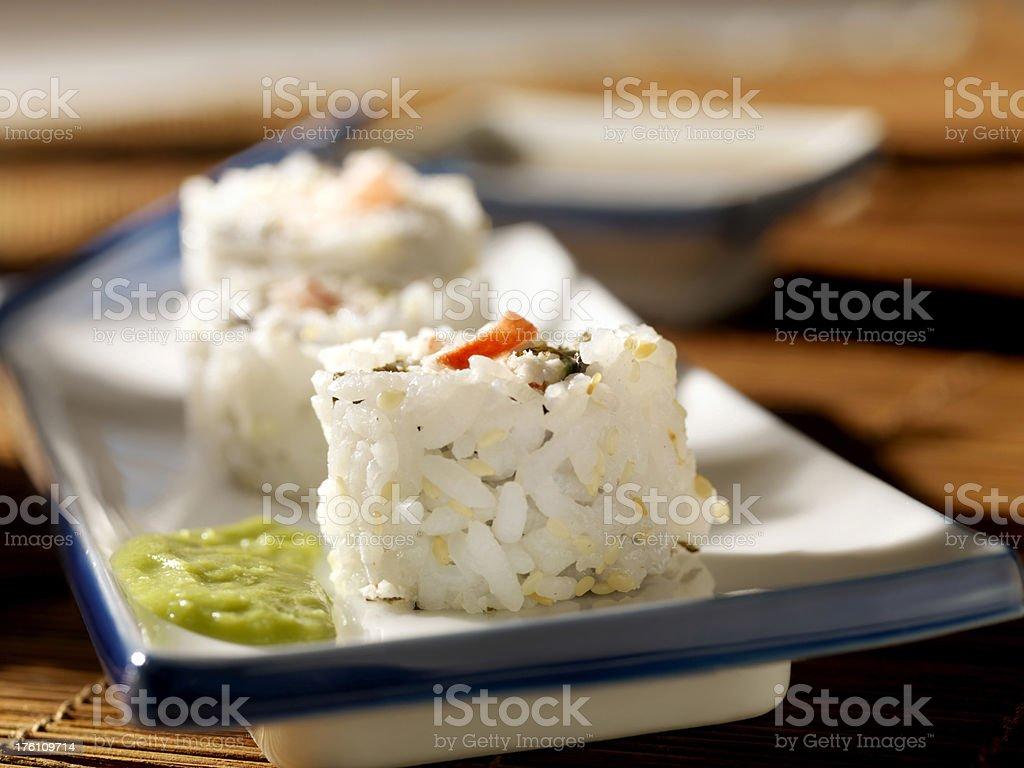 Sushi with Wasabi royalty-free stock photo