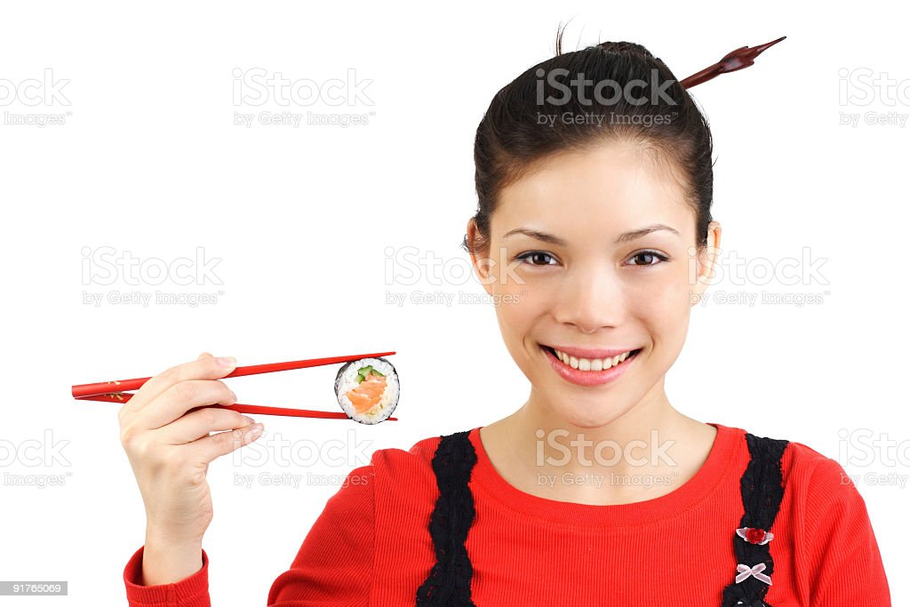 Sushi woman royalty-free stock photo