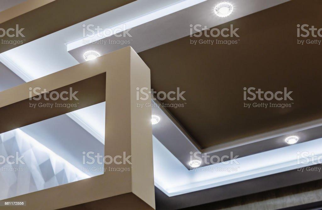 Abgehangte Decke Und Trockenbau Bau In Der Dekoration Stock