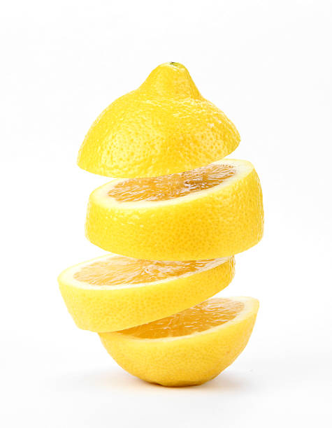 suspended lemon stock photo