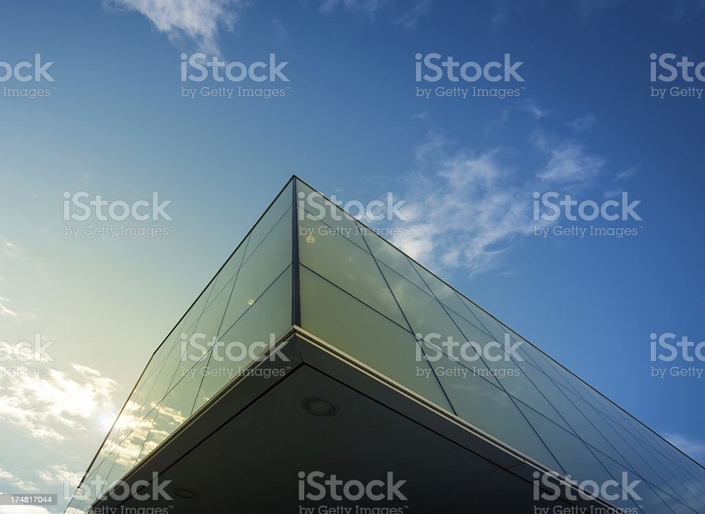 suspended office building royalty-free stock photo