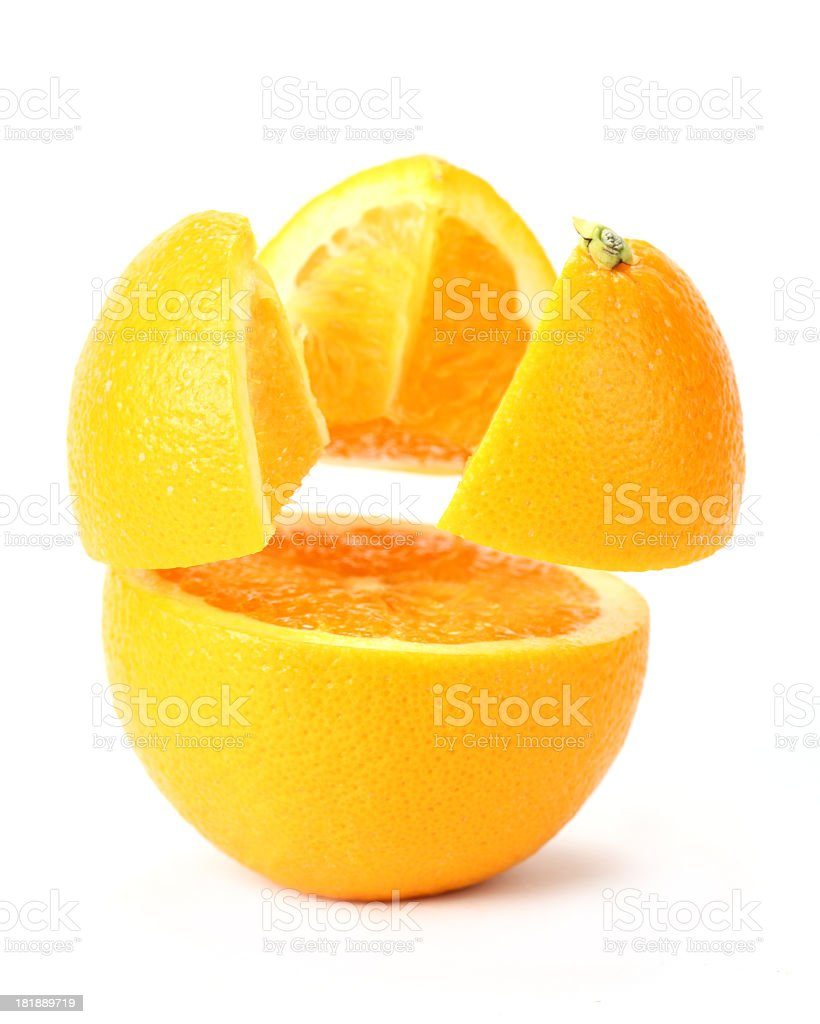 suspended orange royalty-free stock photo