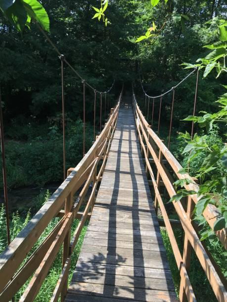 Suspended Walking Bridge stock photo