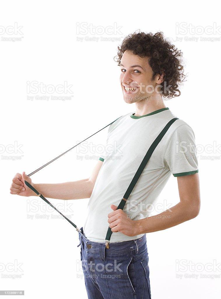 Suspenders royalty-free stock photo