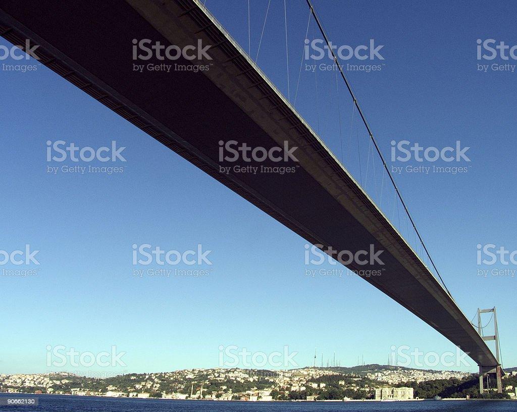 Suspension bridge 4 royalty-free stock photo